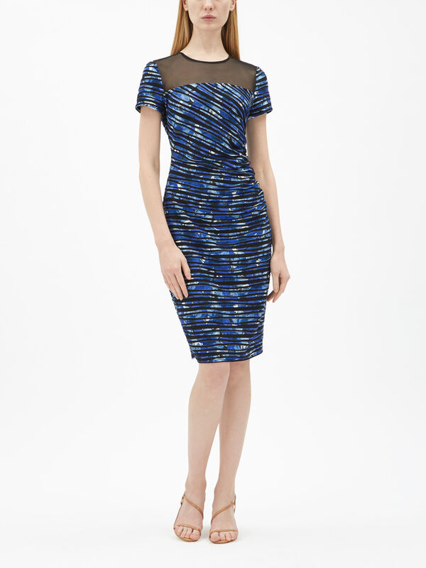 Cascade Mesh Panel Dress