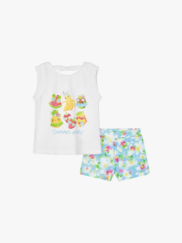 Fruity Floral Shorts Set
