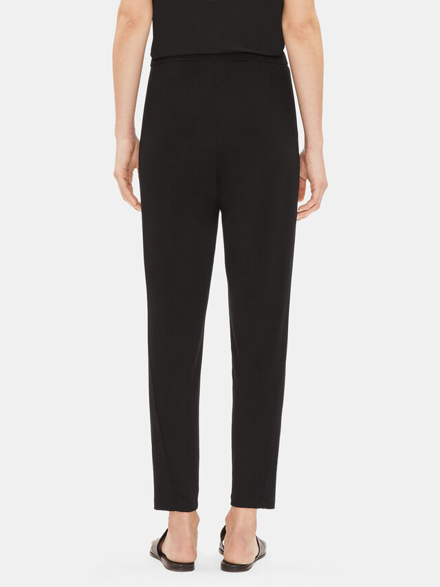 Viscose Jersey Slim Ankle Slouchy Pants