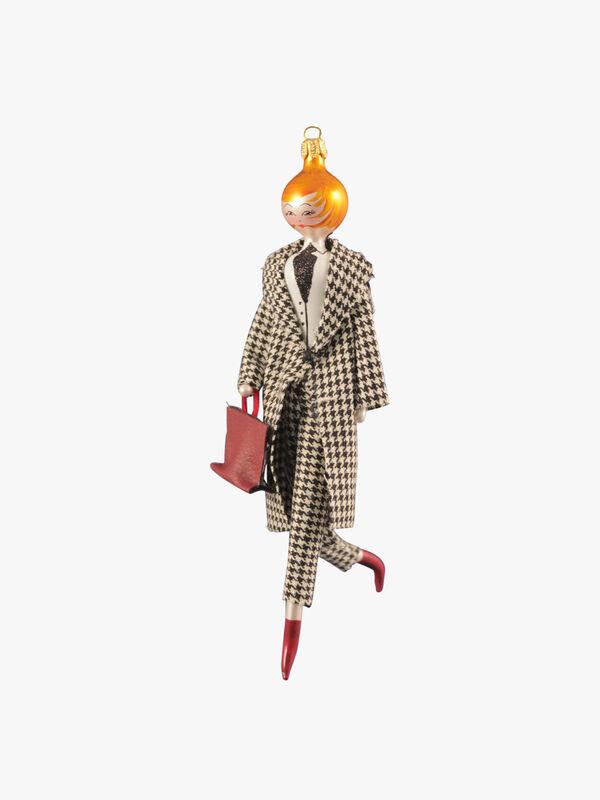 Lady in Plaid Suit
