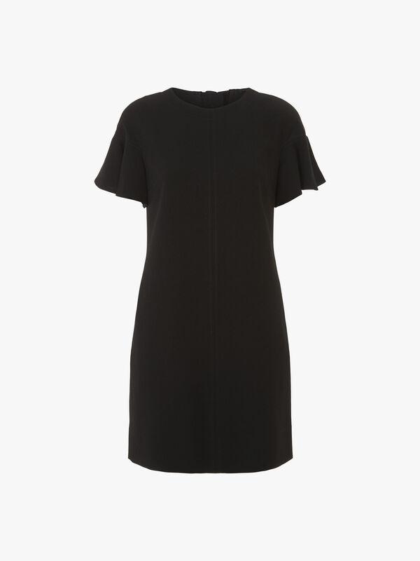 Krystal Fluid Crepe Button Back Dress
