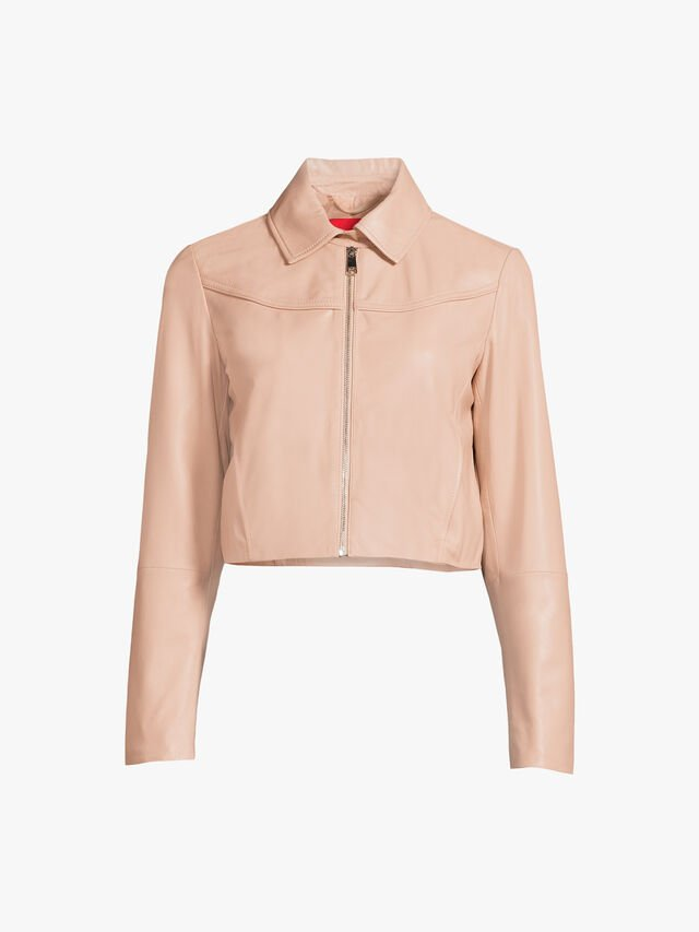 Micron Cropped Leather Jacket