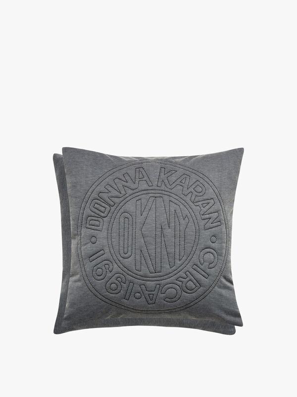 Circle Logo Cushion Charcoal