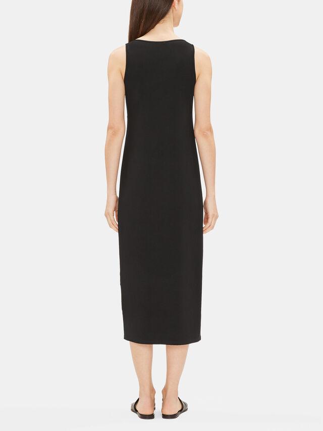 Viscose Jersey Scoop Neck Full Length Dress