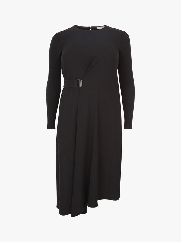 Long Sleeve Draped Dress