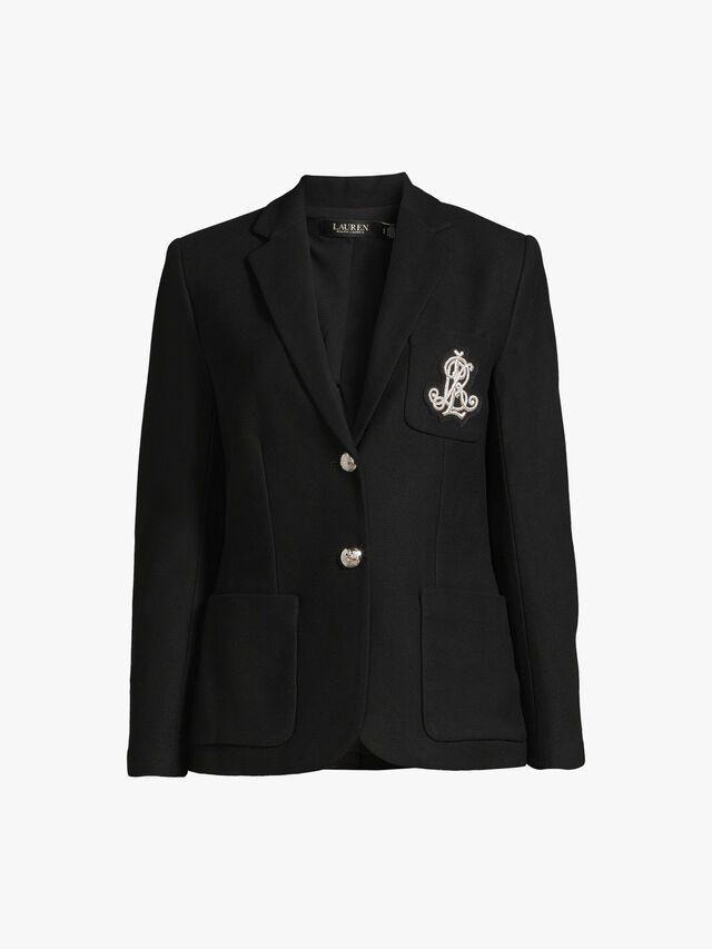 Anfisa Single Breast Blazer With Embroidered Crest
