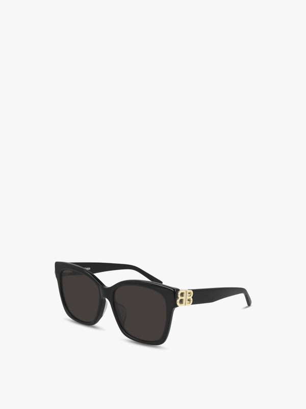 Square Butterfly Logo Arm Sunglasses