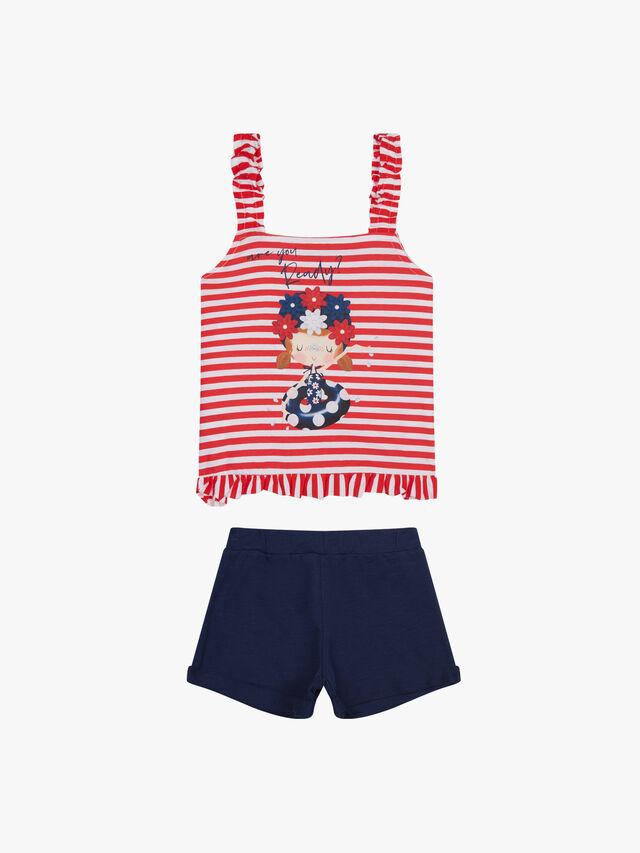 Stripe Top & Shorts Set