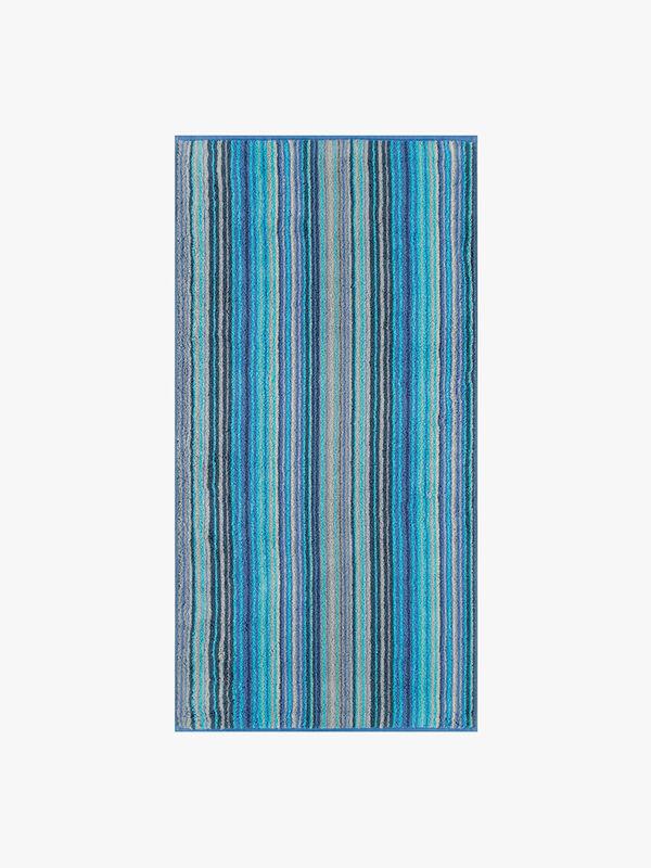 Two Tone Stripe Face Towel