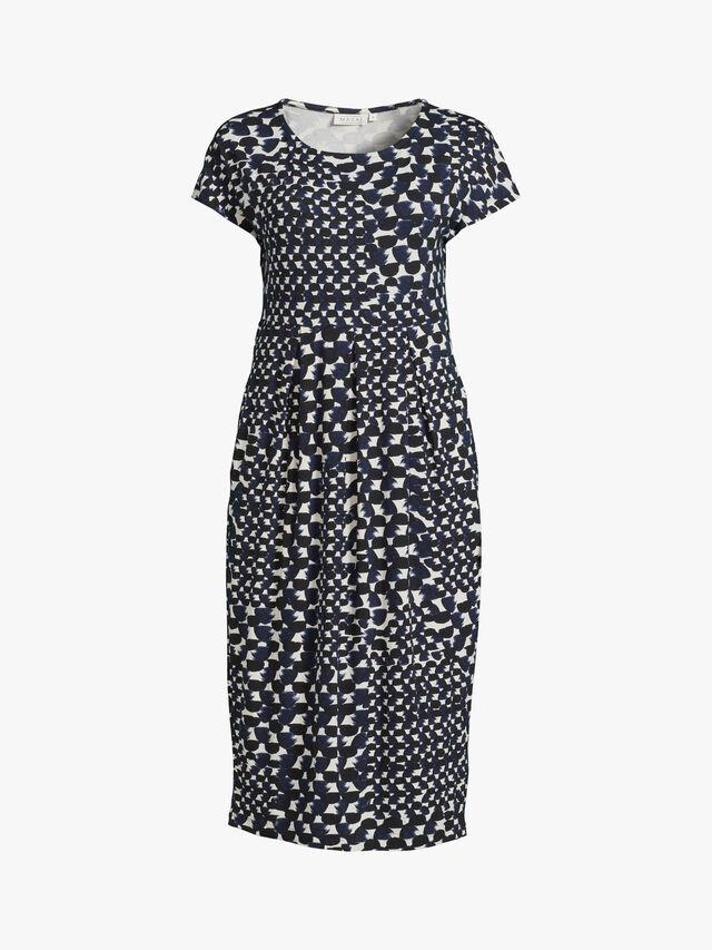 Olnia Ink Abstract Print Jersey Midi Dress