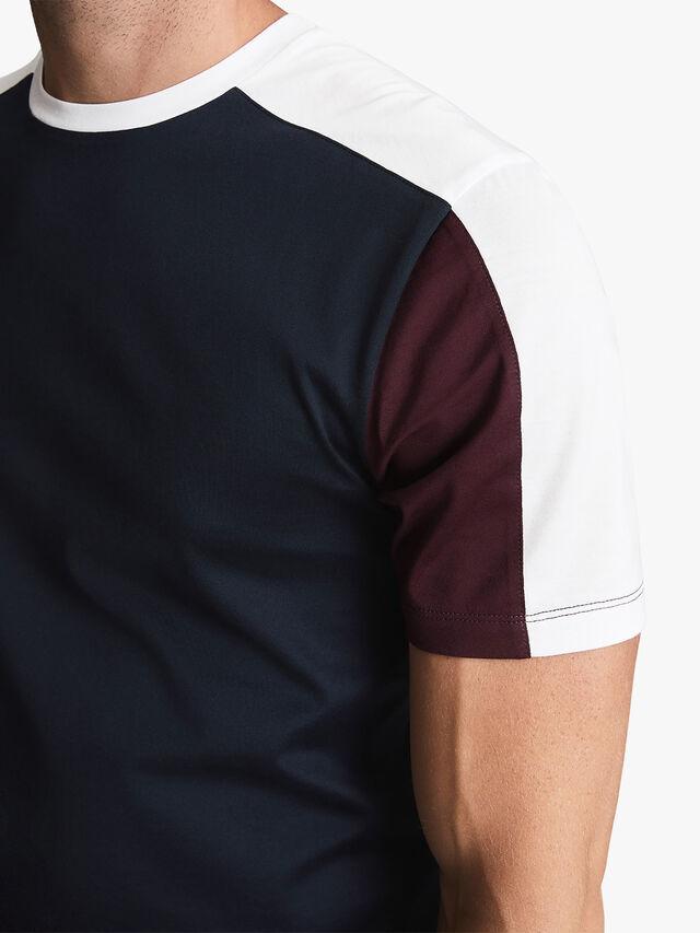 Herts Mercerised Colour Block T-Shirt
