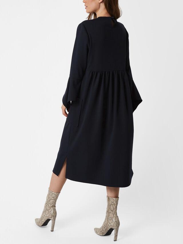 Square Pocket Midi Dress