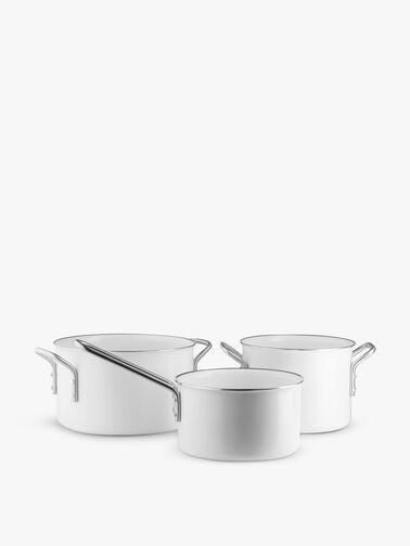 White Line Cookware Set of Three