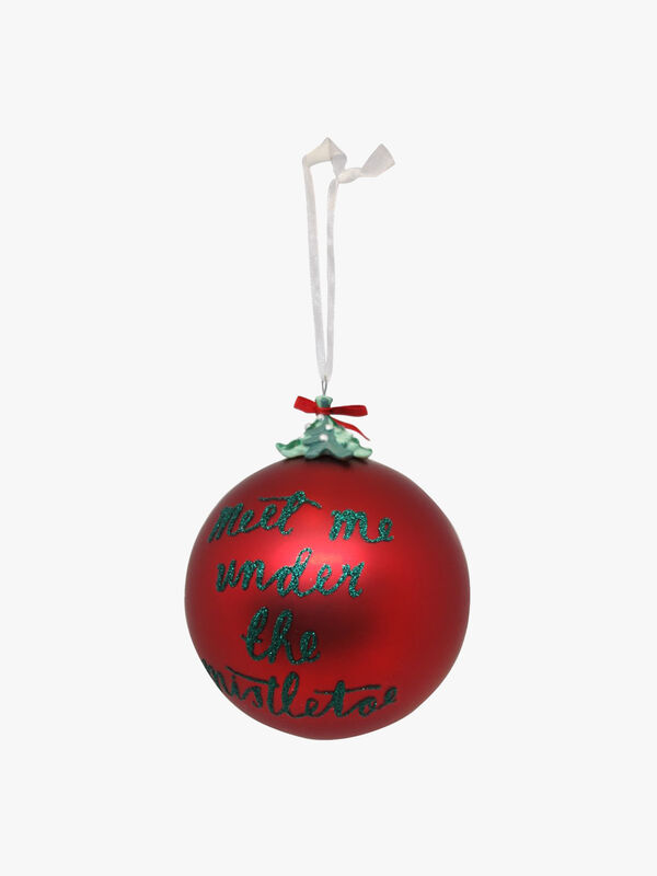 Under The Mistletoe Christmas Bauble