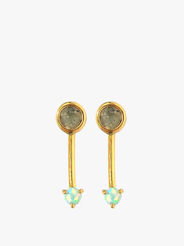 Long Opal Drop Earrings