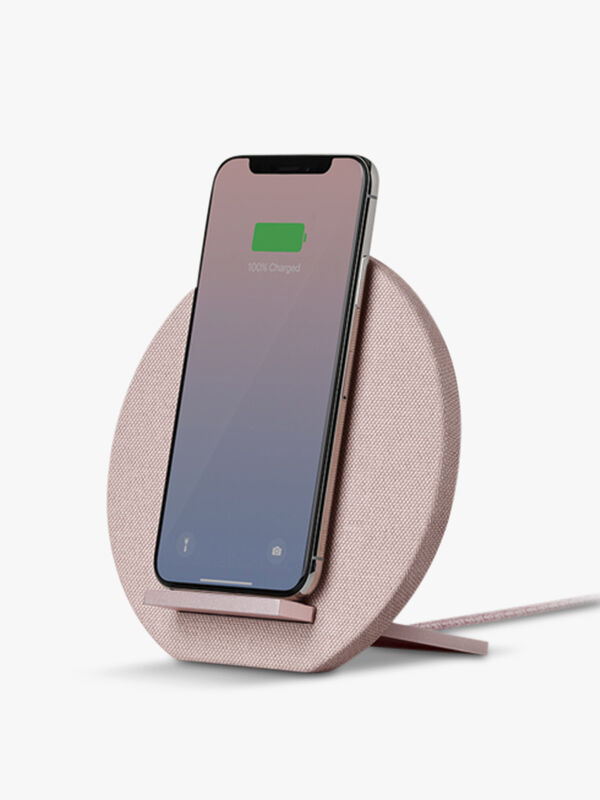 Dock Wireless Charger Fabric Rose