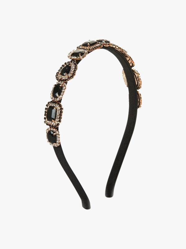 Jewel Detail Thin Crown Headband