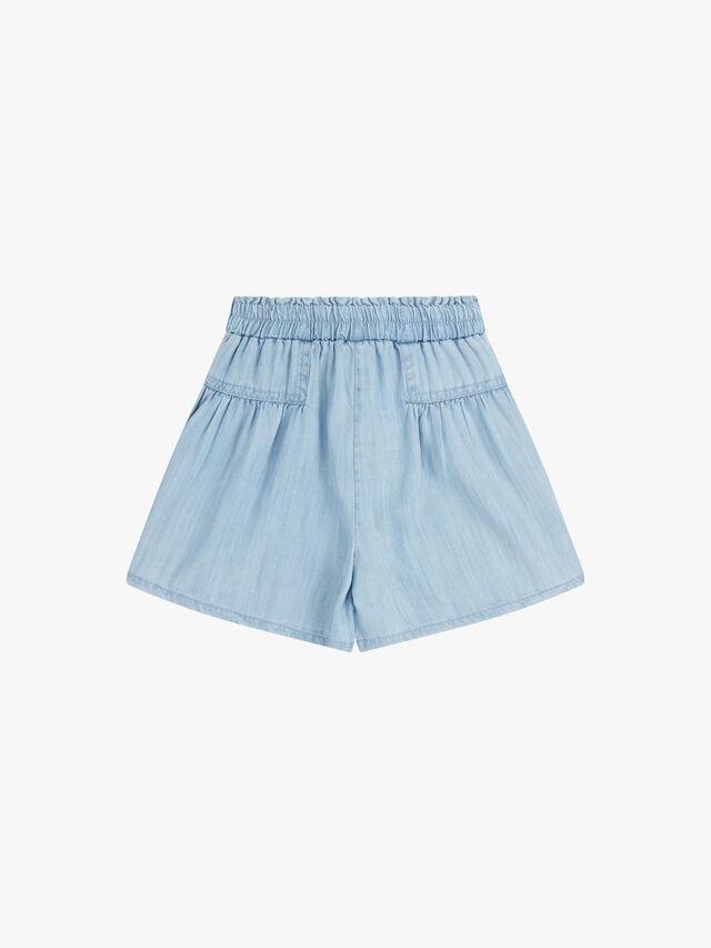 Chambray Bow Shorts