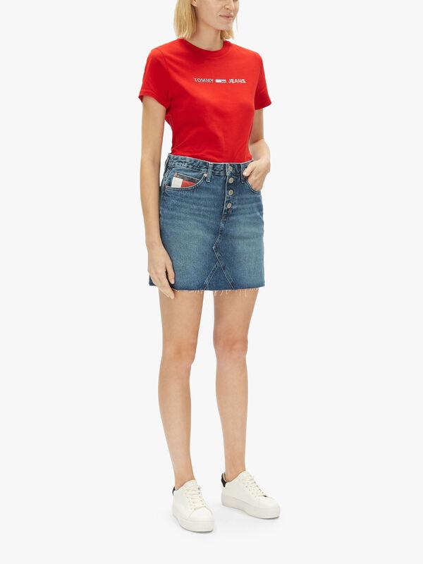 Short Denim Skirt Button Fly