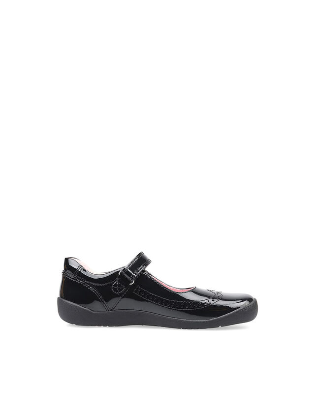 Spirit Black Patent School Shoes