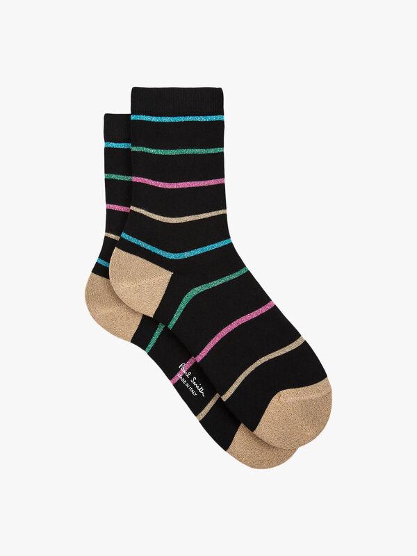 Patricia Glitter Stripe Sock