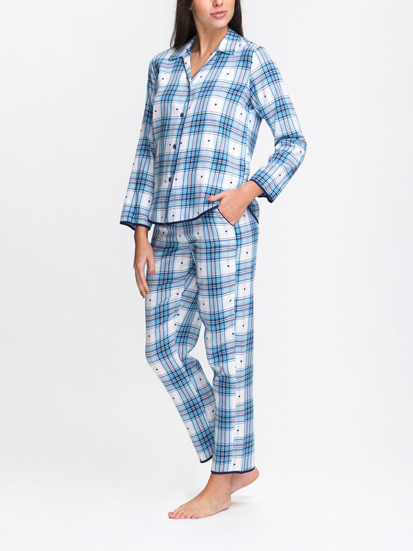 Stella Dobby Check PJ Top