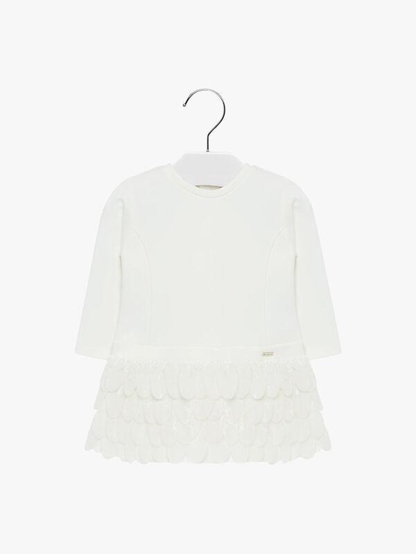 Velvet Feather Trim Dress