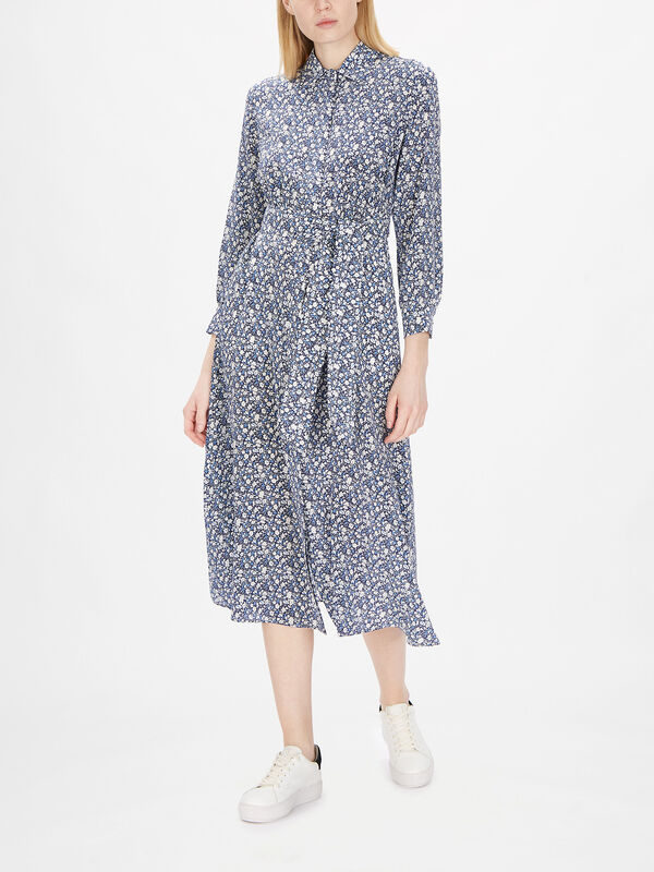 Miss Silk Maxi Shirt Dress