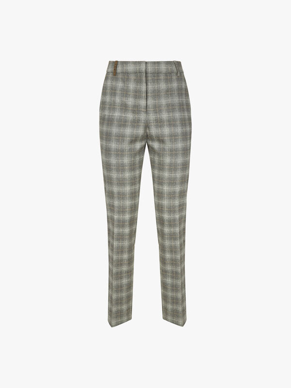 POW Check Front Zip Trouser