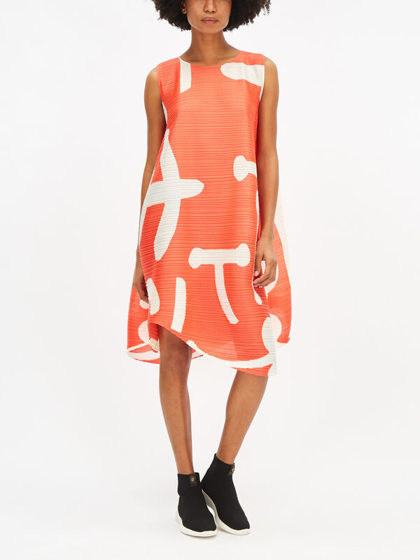 Voluminous Printed Dress