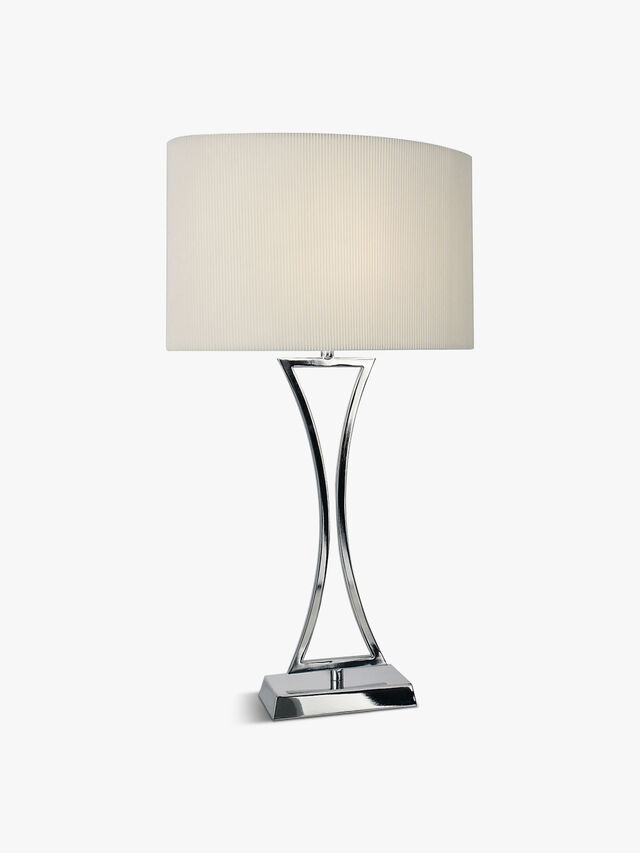 Oporto Wavy Table Lamp Polished Chrome