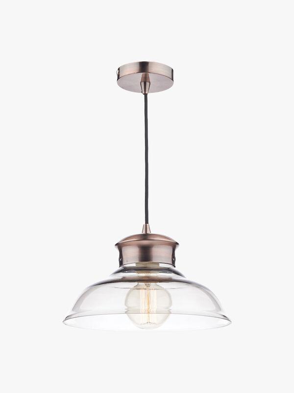 Siren 1 Light Pendant Glass
