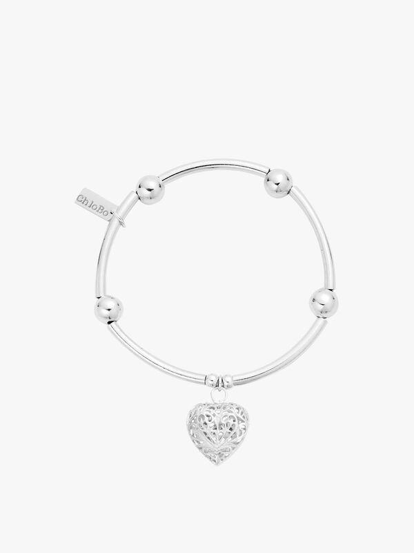 Noodle Ball Filigree Heart Bracelet