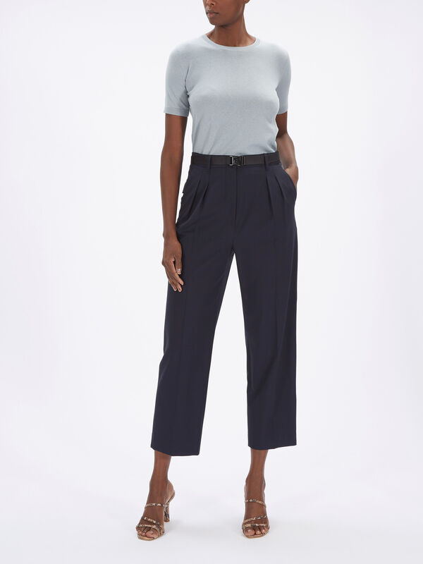 Orione Straight Leg Wool Pant