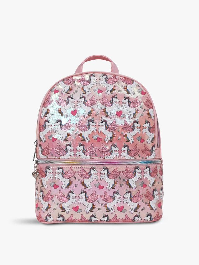 Winged Unicorn Hologram Mini Backpack