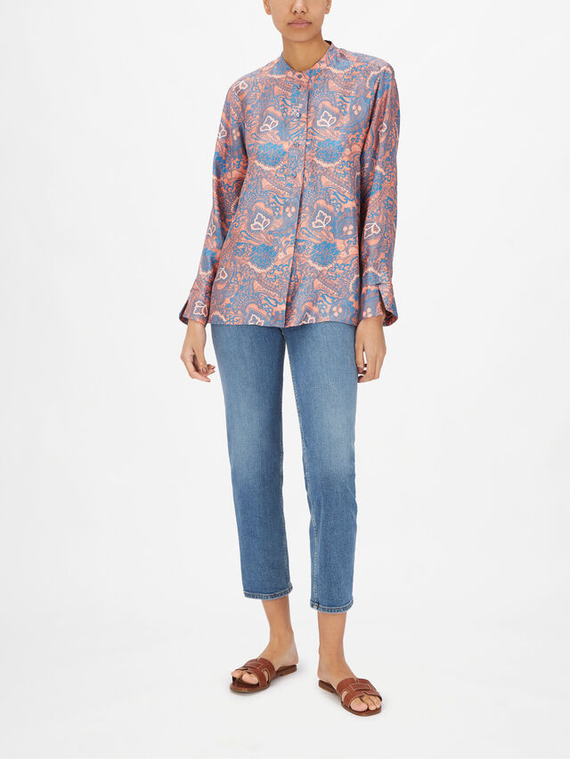 Alia Paisley Printed Shirt