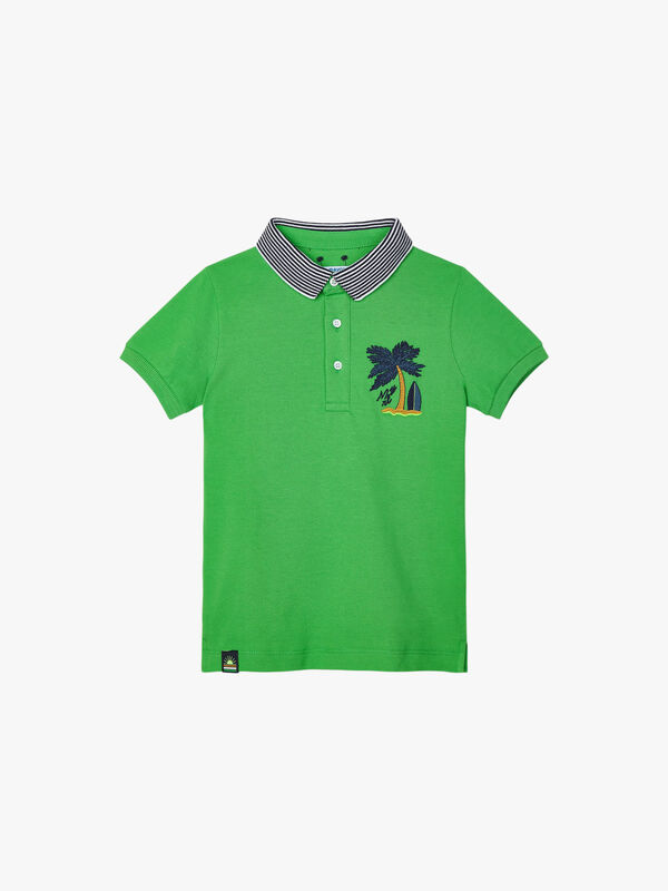 Palm Tree Polo Shirt