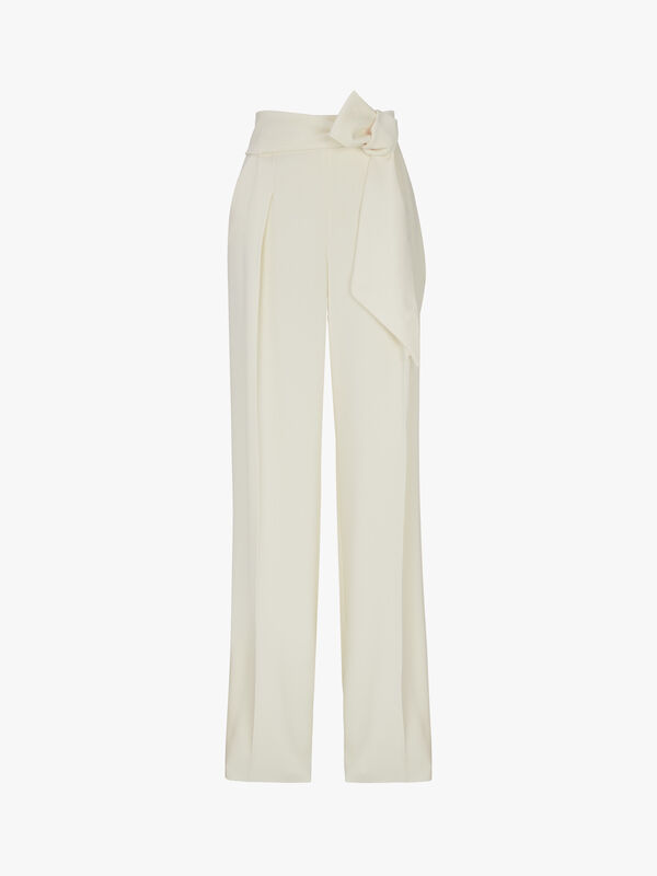 Full Wide Leg Pleated Trouser