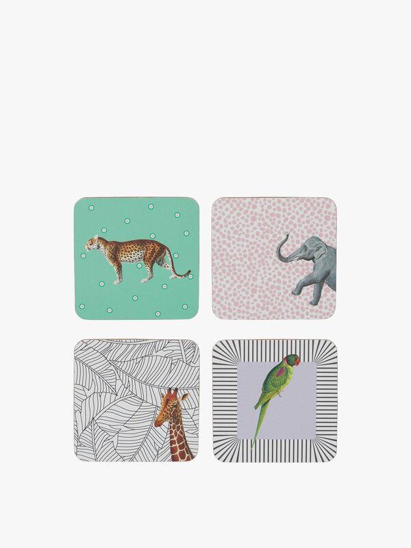 Animal Coasters Mixed Set of 4