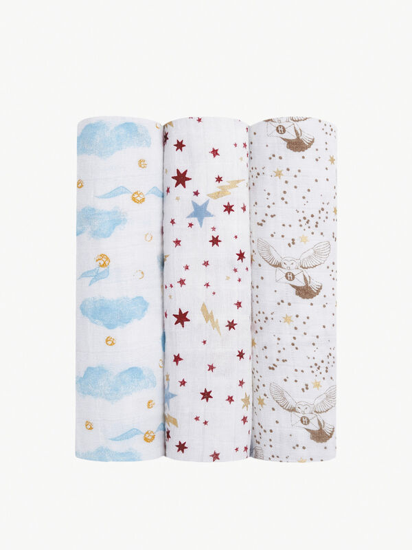 Metallic Swaddles Harry Potter 3 Pack
