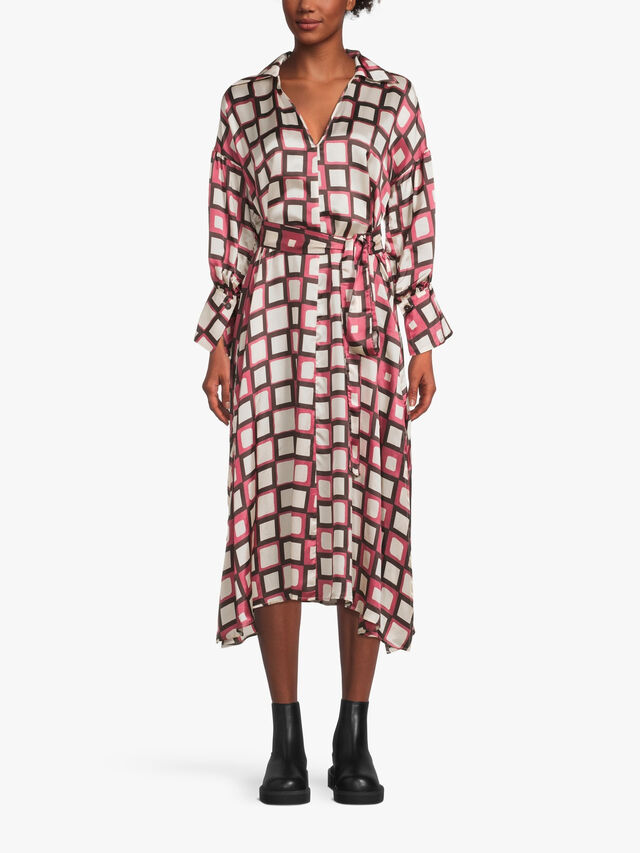 Printed Soft Shirt Dress