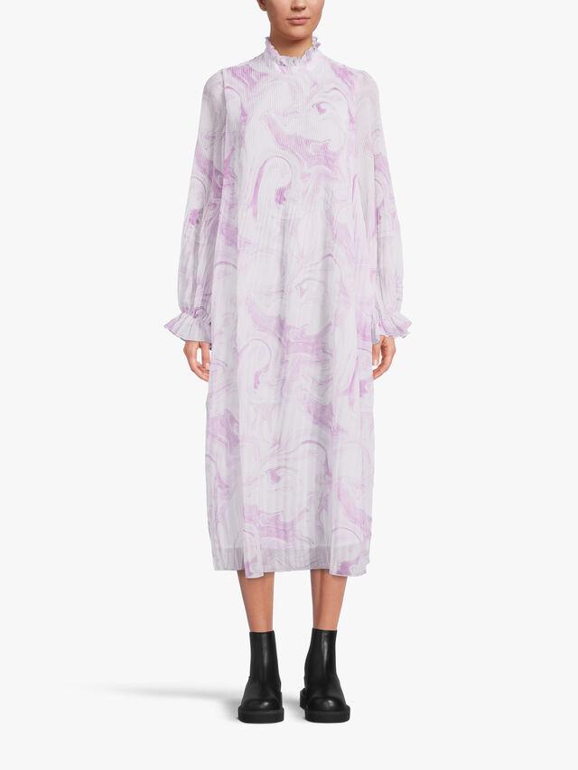 Pleated Georgett Dress