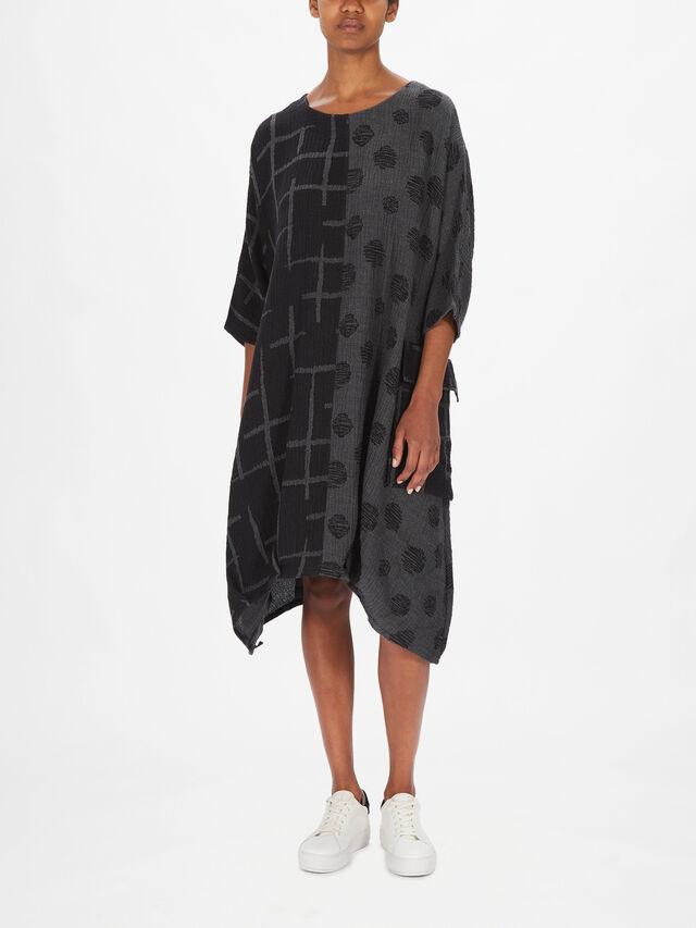 Siria Spot Cross Mix Print Dress