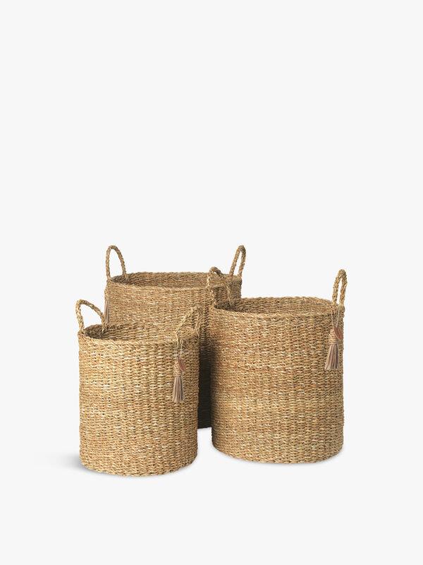 Holga Sara Tall Baskets Set of 3