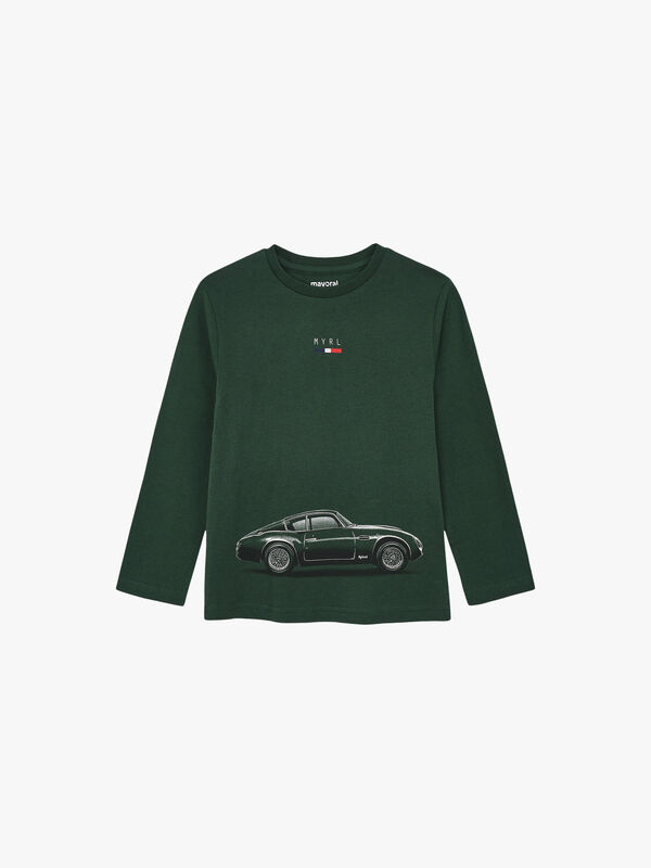 Long Sleeved Top With Car