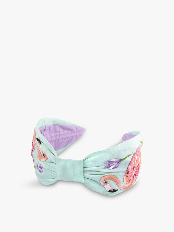 Flamingo and Flower Headband