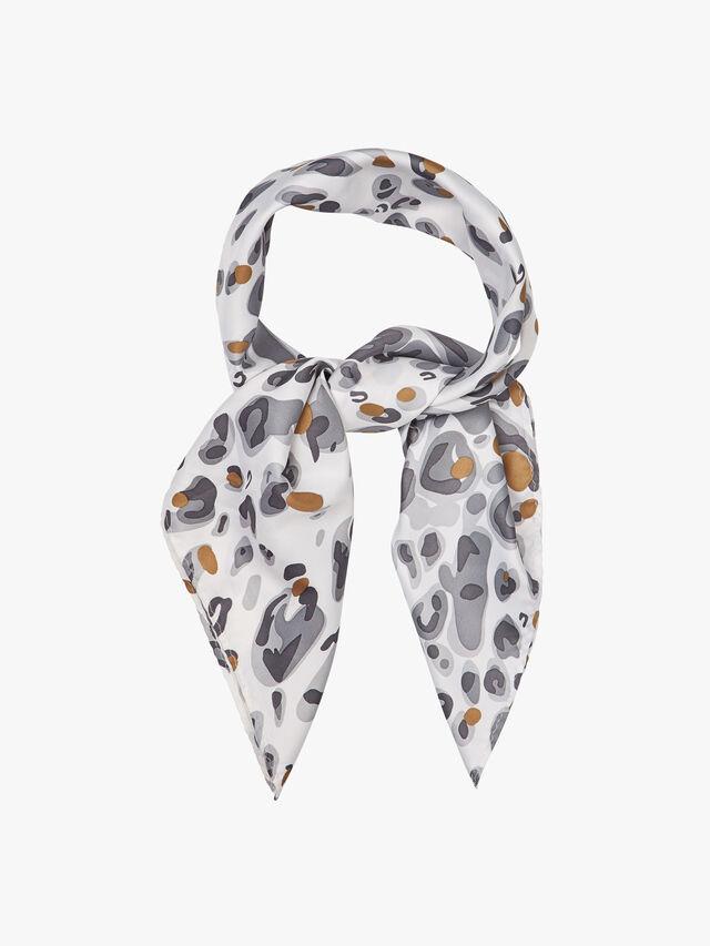 Leopard Print Square Scarf