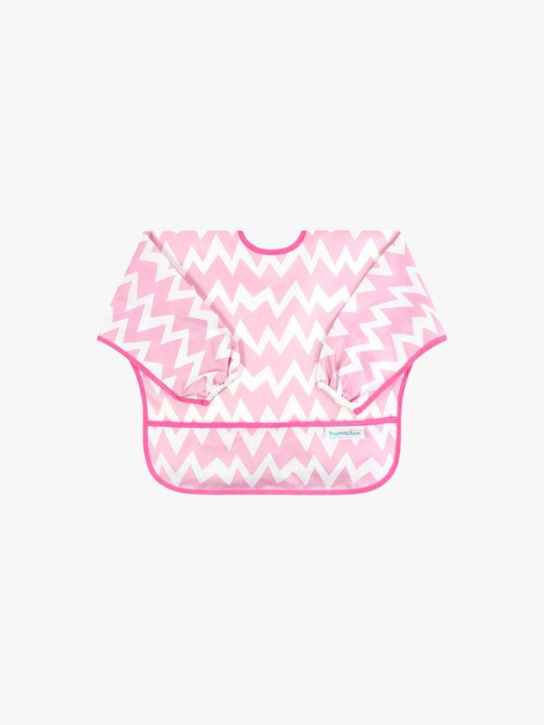 Sleeved Pink Chevron Bib