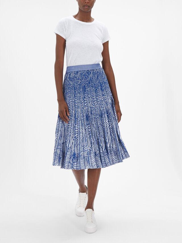 Cyrilla Shell Print Skirt