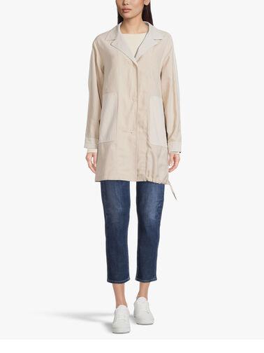 Tencel-Gathered-Hem-Button-Down-Mid-Length-Jacket-w-Patch-Pockets-Alla